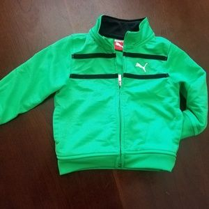 Baby 12M Puma green track zipper jacket